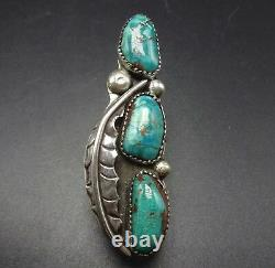 2.5 EXTRA LONG Gorgeous Vintage NAVAJO Sterling Silver & TURQUOISE RING, size 7