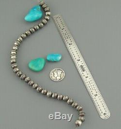 36 Pc. LOT 7 mm NAVAJO Old Pawn BENCH BEADS Charm STERLING Pearl Vintage