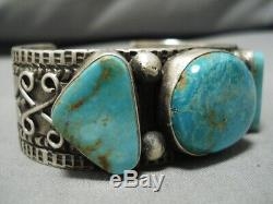 Amazing Vintage Navajo Royston Turquoise Sterling Silver Bracelet Cuff