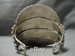 Best Vintage Navajo Larry Moses Begay Turquoise Sterling Silver Bracelet