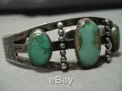 Earlier 1900's Vintage Navajo Royston Turquoise Sterling Silver Bracelet Old