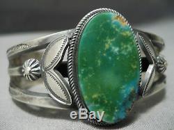 Exquisite Vintage Navajo Henry Morgan Damale Turquoise Sterling Silver Bracelet