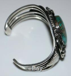 FANTASTIC Vintage Navajo Old Pawn Signed DB ROYSTON TURQUOISE Cuff Bracelet