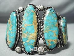 Gorgeous Vintage Navajo Royston Turquoise Sterling Silver Bracelet Old