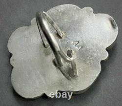 HUGE Vintage Navajo Native American Sterling Silver Turquoise Cluster Ring