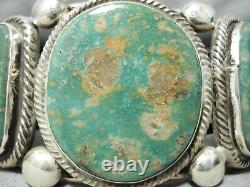 Heavy Vintage Navajo Royston Turquoise Sterling Silver Bracelet