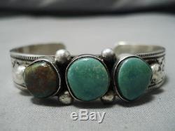 Henry Smith Vintage Navajo Royston Turquoise Sterling Silver Bracelet