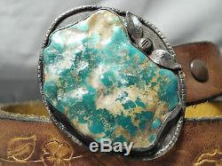Huge Chunky Royston Turquoise Vintage Navajo Sterling Silver Concho Belt