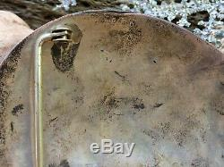 Huge Vintage Native American Navajo Sterling Silver Turquoise Coral Belt Buckle