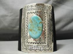 Huge Vintage Navajo 120 Grams Royston Turquoise Sterling Silver Ketoh Bracelet