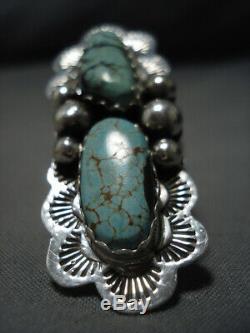 Huge Vintage Navajo Royston Turquoise Sterling Siilver Ring