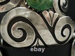 Important Vintage Navajo Debbie Silversmith Sterling Silver Concho Belt