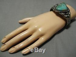 Important Vintage Navajo Kirk Smith Royston Turquoise Sterling Silver Bracelet