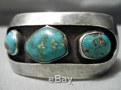 Incredible Vintage Navajo Royston Turquoise Sterling Silver Bracelet Old