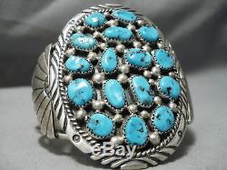 Marvelous Vintage Navajo Turquoise Sterling Silver Bracelet