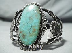 Museum Authentic Vintage Navajo Royston Turquoise Sterling Silver Bracelet