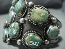Museum Vintage Navajo Green Turquoise Sterling Silver Cuff Bracelet