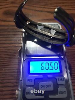 Native American Old PawnTurquoiseNuggetSterling SilverCuffBracelet 60g Vtg