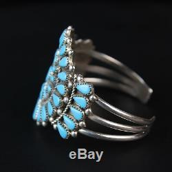 Native American Turquoise Cluster vintage sterling silver. 925 shank Bracelet
