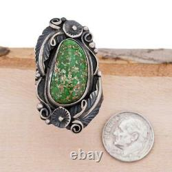 Native American Turquoise RING Sterling Silver CARICO LAKE Old Pawn Vintage sz 8