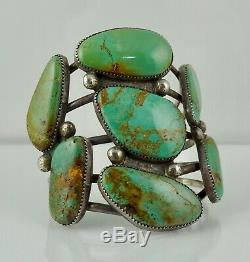 Navajo Sterling Native American Turquoise Cuff Bracelet Vintage Silver Dead Pawn