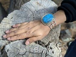 Navajo Turquoise Bracelet Sterling Silver Vintage Native American Jewelry