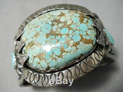 One Of The Best Vintage Navajo #8 Turquoise Sterling Silver Bracelet