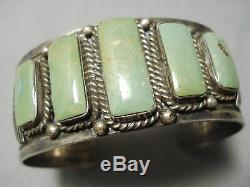 One Of The Best Vintage Navajo Royston Turquoise Sterling Silver Bracelet Old