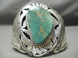 Quality Silver Work Vintage Navajo Royston Turquoise Sterling Bracelet