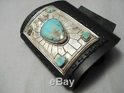 Quality Vintage Navajo Royston Turquoise Sterling Silver Ketoh Bracelet