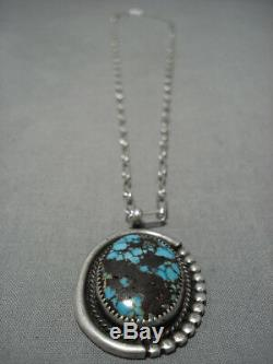 Rare Bisbee Turquoise Vintage Navajo Sterling Silver Native American Necklace