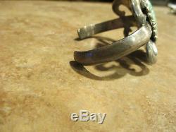 ULTRA FINE Vintage Navajo Sterling Silver PREMIUM Turquoise SANDCAST Bracelet