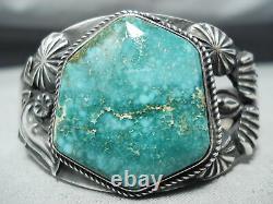 VIVID Kirk Smith Vintage Navajo Carico Turquoise Sterling Silver Bracelet