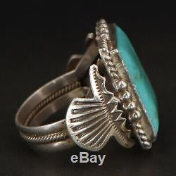 VTG Sterling Silver NAVAJO M&R CALLADITTO Turquoise Ring Size 11.5 12.5g