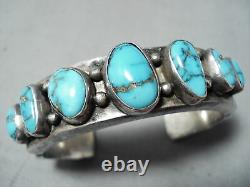 Very Important Mark Chee Vintage Navajo Turquoise Sterling Silver Bracelet