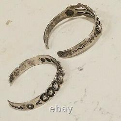 Vintage 2 Old Pawn Turquoise Sterling Silver 925 Cuff Bracelets