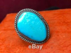 Vintage Estate Sterling Native American Turquoise Ring & Necklace Southwestern