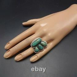 Vintage NAVAJO Sterling Silver NATURAL ROYSTON TURQUOISE RING size 8