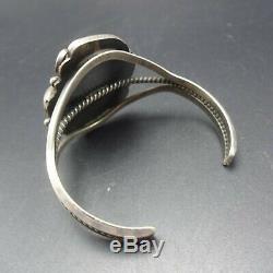 Vintage NAVAJO Sterling Silver ROYSTON TURQUOISE Webbed Matrix Cuff BRACELET