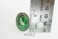 Vintage Native American Navajo Sterling Silver Turquoise Ring Size 7