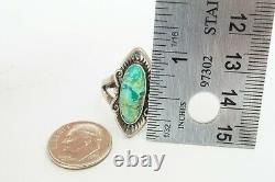 Vintage Native American Navajo Sterling Silver Turquoise Ring Size 9