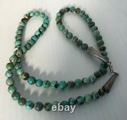 Vintage Native American Navajo Sterling Turquoise Necklace 28