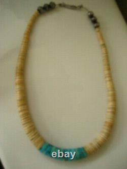 Vintage Native American Navajo Turquoise & Heishi Necklace NM