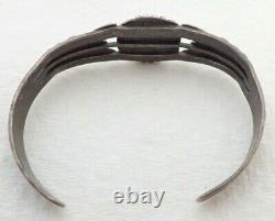 Vintage Navajo Fred Harvey Era Kingman Turquoise Sterling Cuff Bracelet
