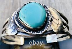 Vintage Navajo Turquoise & Sterling Silver Bracelet
