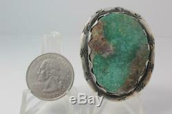 Vintage Old Pawn Navajo Turquoise Sterling Silver Ring Size 9 #557