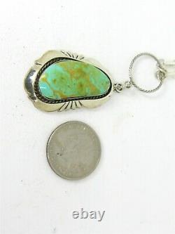 Vintage Sterling Silver Gregg Yazzie Natural Turquoise Navajo Necklace 25.4g B14