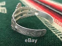 Vtg FRED HARVEY Era Sterling Silver & Turquoise NAVAJO Bracelet cuff THUNDERBIRD