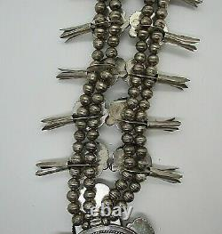 Vtg Sw N A Turquoise Squash Blossom Necklace Ry Sterling-new Price